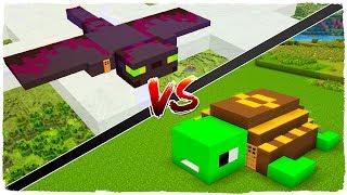 🐢 Casa de TORTUGA vs casa de FANTASMA 👻 - MINECRAFT 1.13 MOBS