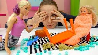 #КУКЛЫ Барби (barbie) и Штеффи. Видео для девочек: няня для куклы Штеффи. Игры для девочек с #Барби