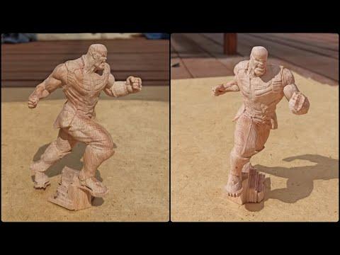 Обработка статуэтки Таноса на станке с ЧПУ. Станок от