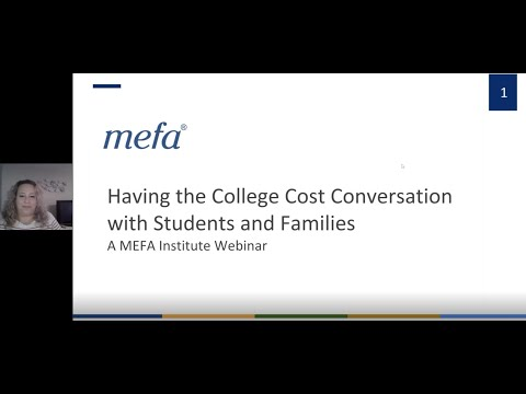 The MEFA Institute: Having the College Cost Conversation with Students and Families