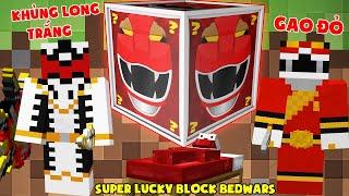 MINI GAME : SUPER LUCKY BLOCK BEDWARS ** THỬ THÁCH T GAMING CÓ ĐỒ SIÊU NHÂN SIÊU VIP ??