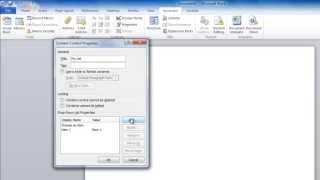 How to Create a Drop Down List in Word
