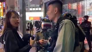 元朗10.12晚 防暴警察截查市民 其中這位女子不幸被「照顧」