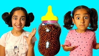 Esma and Asya little girls  pretend play fun kid video