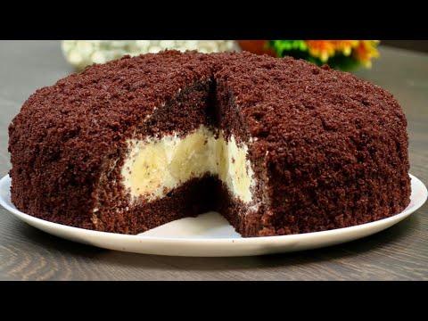 Bananli tort resepti. Торт с  бананом . banana cake