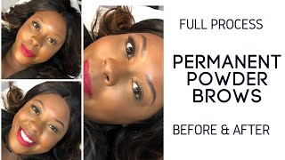 Candace at Beauty Glam Studio vlogging on Nano Brows by Marie!