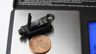 World smallest FPV transmitter+camera+battery, 30x10mm, **ONLY 3g** Video SPY BUG