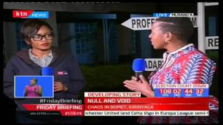 Women Rep. Sabina Chege reacts to the nullification of nominations by secretariat