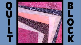 Quilt Block Party - Block 6: Cozy Corner - Crazy Quilt Block Tutorial