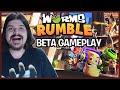 Worms Rumble Gameplay Da Beta Desse Jogo Fren tico Em P