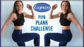 Busy Morning Metabolism Boosting HIIT | Plyo-Plank CHALLENGE | NO EQUIPMENT by Christine Salus