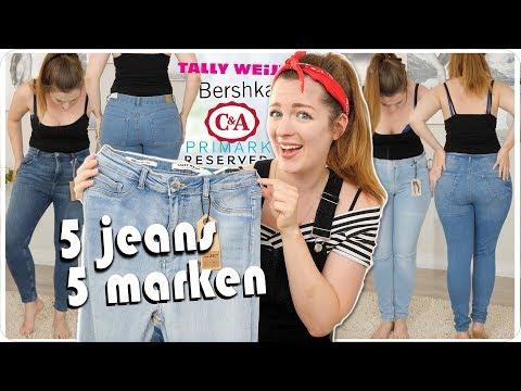 ich teste LIVE 5 Jeans Hosen von 5 Marken in Größe 42 - Size Inbetweenie