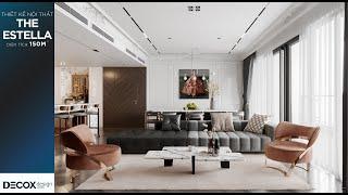 Mẫu thiết kế nội thất căn hộ tại The Estella rộng 150m2 phong...