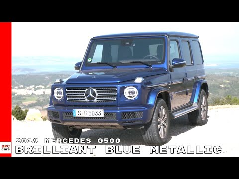 2019 Mercedes G500 Brilliant Blue Metallic