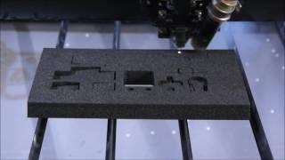 20mm PU Schaumstoff Schneiden Mit Dem GCC T500 100 Watt
