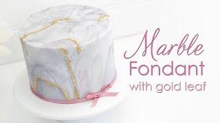 Marble Effect Fondant / Sugarpaste Cake Decorating Techniques Tutorial