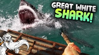 "Stranded Deep Gameplay - ""GREAT WHITE SHARK HUNTING!!!""  - Let"