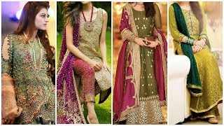 Elegant Combination Stylish Designers Wedding Dresses For Women & Girls 2019