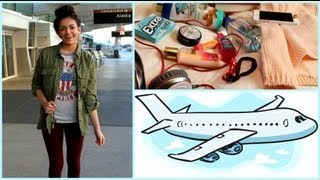 Airplane/Traveling Hair, Makeup,Outfit! +My Carry On Essentials