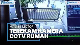 Terekam CCTV Aksi Dua Maling Gasak Motor dari Garasi Rumah di Cilincing Jakarta Utara