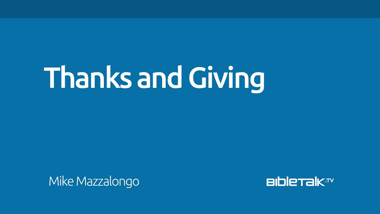 Thanks and Giving