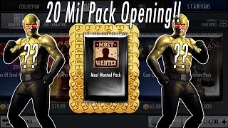 Buying 20 MILLION Power Credits/Coins Of Injustice Most Wanted Packs - Opening Gods Among Us Phone