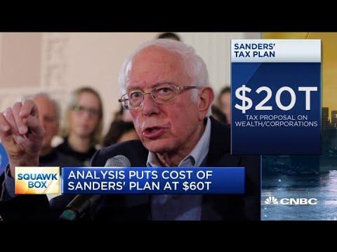 Analysis puts cost of Bernie Sanders' tax plan at $60 trillion