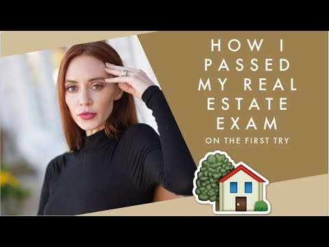 How I Passed My Real Estate Exam On The First Try - YouTube