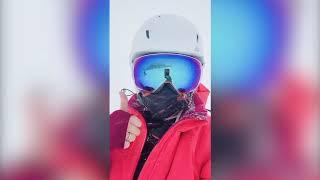 Thu Minh du hí đầu năm gặp bão tuyết tại Thuỵ Sĩ