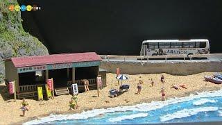 Diorama - Miniature Japanese Summer Beach ジオラマ ミニチュア海水浴場作り