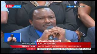 Kalonzo Musyoka presents nomination papers to Wiper Party board