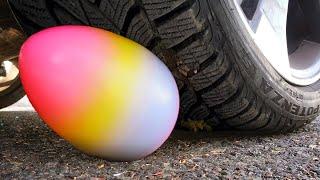 Машина давит огромное Яйцо  эксперименты!Кроме этого мы будем класть под машину и другие предметы
