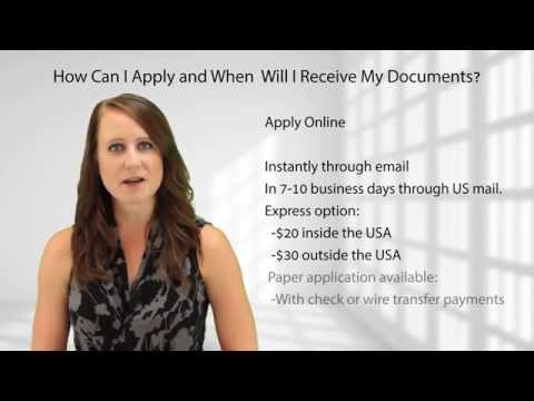 How Can I Apply and When Will I Receive My Documents