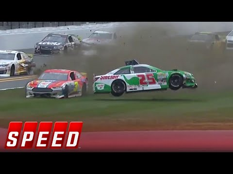 Michael Self gets airborne early during season opener in Daytona I 2019 ARCA MENARDS RACING SERIES