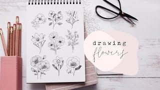 How To Draw Flowers   Florals Step By Step