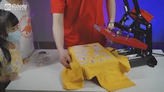 用客製化DTF數位直噴轉印膠膜來進行舊衣大改造|親子系列|認識五官系列|可愛風格系列|奕昇有限公司