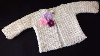 Crochet Baby Cardigan - كروشيه جاكيت بيبي