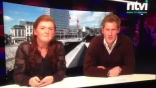 Prince Harry reads the news for Nottingham
