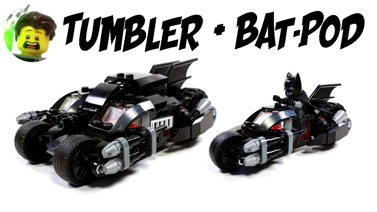 LEGO Custom Dark Knight Tumbler with Batpod Transformation 76118