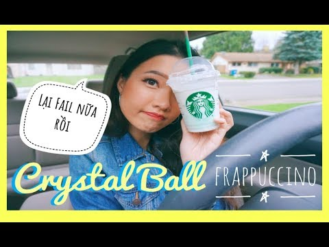 😵 Lần Đầu Thử Crystal Ball Frappuccino Của Starbucks 🍹 || Diane Le