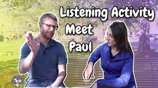Interview in Spanish - Meet Paul   Spanish Listening Activity