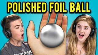 TEENS REACT TO MIRROR-POLISHED JAPANESE FOIL BALL CHALLENGE - Video Youtube