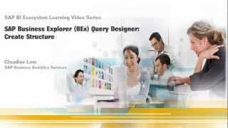 Create Structure: SAP Business Explorer (BEx) Query Designer 7.0