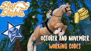 AVALIBLE STAR STABLE CODES 2018 OCTOBER/NOVEMBER!
