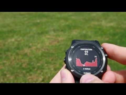Demostración de pantallas (widgets) en Garmin Fenix 3