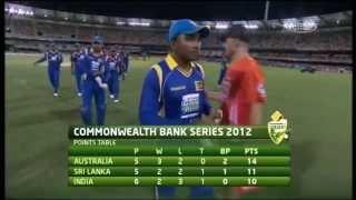 Commonwealth Bank Series Match 8 India vs Sri Lanka - Highlights