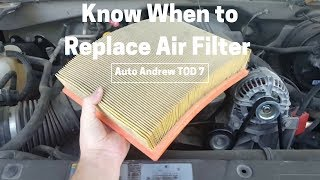 Know When to Replace Your Air Filter
