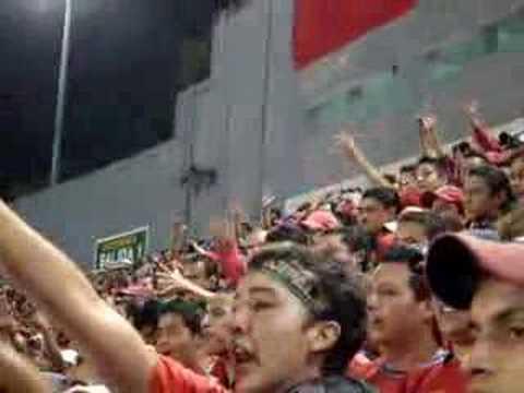 """""""Final Clausura Rojos Cremas 2008 La ULTRA ROJA pirulo"""" Barra: La Banda del Rojo • Club: Municipal"""
