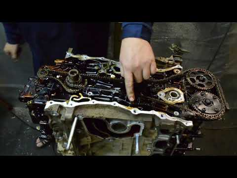 Разбор двигателя K24Z4 honda