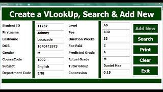 excel vba userform with vlookup in hindi - मुफ्त